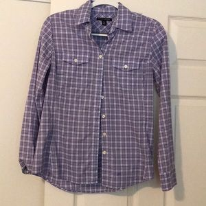 Banana Republic plaid button down size MP